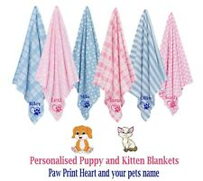 More details for personalised pet blankets comforters ideal for new puppy or kitten ideal gift