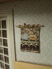 """Miniatur-""""ORGANIZER"""" Küche,vintage,braun-beige,1:12"""