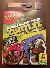 Uno Card Game Tmnt Edition Teenage Mutant Ninja Turtles w/ Special Rule, Cards