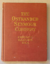 1916 OSTRANDER-SEYMOUR CATALOGUE ELECTROTYPING & STEREOTYPING Printing Trade