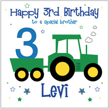 Personalised Birthday Card TRACTOR Son Nephew Brother Grandson Any Age/Name