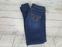 Hollister Blue Wash Skinny Fit Stretch Waist Women Jeans Size 3 Regular 26 x 29