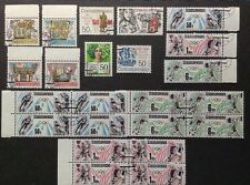 CZECHOSLOVAKIA 1988, LOT OF 23 STAMPS, OLYMPIC BLOCKS OF 4, USED, FREE SHIPPING