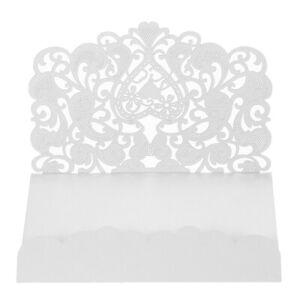 20pcs/set Wedding Invitations Cards Envelopes Pearl Paper Laser Cut Hollow Heart