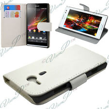 Case Cover Walet Video WHITE Sony Xperia SP M35h C5302 C5303 C5306