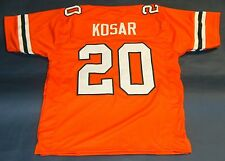 BERNIE KOSAR CUSTOM UNIVERSITY OF MIAMI HURRICANES JERSEY THE U