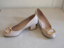 Moda n Pelle UK 3.5 Gorgeous High Gloss Ivory Low Heel Court Evening Shoes EU 36