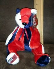 Blue tail MWMT Reversed Version Flag on left foot Ty Beanie Baby Patriot