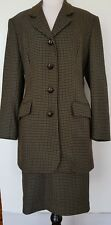 LAURA ASHLEY Tweed 100% Wool Vintage Style Suit Size 12