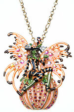 KIRKS FOLLY CIRCE FAIRY WITCH and MAGIC PUMPKIN PIN NECKLACE ~ NEW RELEASE ~