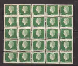 Canada 1963 2c Cameo Definitive Pane of 25 Mint NH
