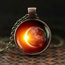 Universum Galaxy Sonnenfinsternis Halskette Anhänger Erde Schmuck Geschenkidee