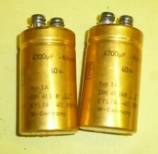 2 x Kondensator Elko ROE 4700µF 40  Volt DC