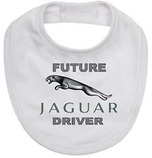BABY BIB white cotton printed with FUTURE JAGUAR DRIVER on quality Baby Bib