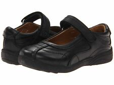 Stride Rite Black Leather MaryJanes School Shoes  Little Girls Size 12 Wide