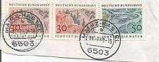 GERMANY;MAINZ-KASTEL POSTMARK 1969 ON 50 + 30 PF NATURE