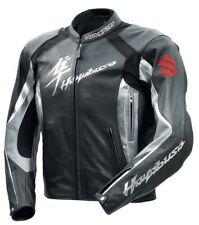 HAYABUSA SUZUKI Motorcycle Racing Leather Jacket Mens Motorbike Leather Jacket