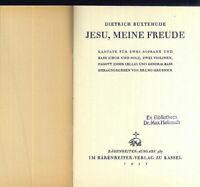 Buxtehude : Jesu, meine Freude - Kantate - Klavierauszug mit Text