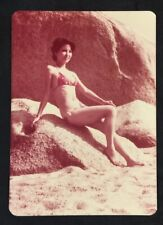 80's  Deborah 狄波拉 in swimming suit Hong Kong TV movie actress real photo color