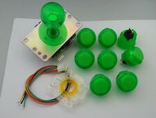 Japan Sanwa Clear Green Joystick Buttons Set of 8 OBSC-30-CG Video Game GT-Y
