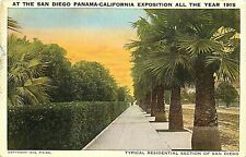 Old DB Postcard CA G624 San Diego Panama California Exposition 1915 Palms AS IS