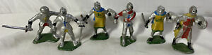 Vintage (1940's or 50's) Plastic Toy Knights ~ Made In Germany ~ Set of 6