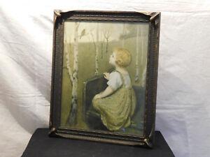 "Antique Bat Frame- Arts & Crafts-Reinthal & Newman, NY Print ""Spring Song"""