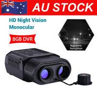 Night Vision Monocular Infrared Wildlife Scope 9x21 Digital Video DVR Free 8GB
