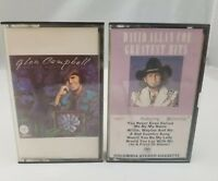 Country Music Cassette Tapes Set of 2 Glen Campbell & David Allan Coe Greatest