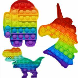 3X Push It Pop Fidget Toy Bubble Trend Spielzeug Toy Anti Stress Rainbow TikTok