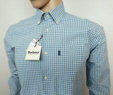 Barbour Para Hombre De Cuadros Camisa a medida con cuadros azules Talla S 15.5 - 40 nuevo PVP £ 119