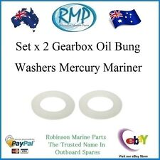 A Brand New Set x 2 Gearbox Oil Bung Washers Mercury Mariner Outboards # R