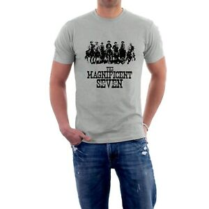 The Magnificent Seven T-shirt Western Steve McQueen Yul Brynner Movie Sillytees