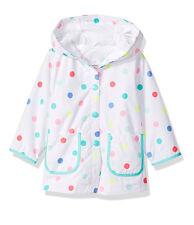Carter's Toddler Girl's White Fully Lined Polka Dot Wind Raincoat Jacket 4T NWT