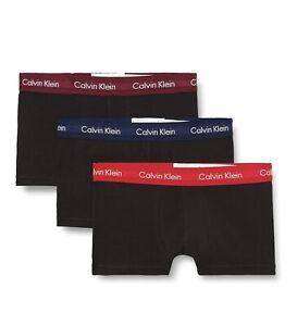 Calvin Klein CK Shorts Herren Boxershorts, 3er Pack-Schwarz-Bund Mehrfarbig S-XL