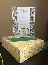 Precious Moments Mom Glass Plaque #268658 Original Box Girl With Flowers Enesco