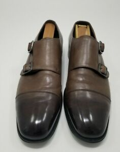 MEN'S SIZE 8 EXPRESS Leather Double Monk Strap, shoe tree no included
