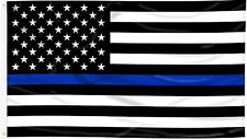 3x5 ft USA Police Memorial Thin Blue Line Law Enforcement Flag Print Polyester