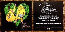 FERGIE L.A. Love feat. YG 2014 Ltd Ed RARE Sticker +FREE Pop/Hip-Hop Stickers