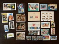 GREAT LOT OF WORLDWIDE SOUVENIR SHEETS AND MINT STAMPS FATHER'S DAY GIFT IDEA
