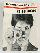 ZEISS IKON CONTESSA LKE MANUAL IN GERMAN