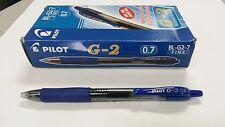 Pilot G2 0.7mm Fine Gel Pens BLUE Box of 12