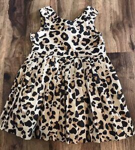 Janie & Jack Baby Girls Animal Print Dress Sz 3-6M