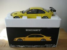 1:18 Minichamps BMW M3 GTR STREET DIECAST 2001 Yellow LIMITED EDITION! LAST ONE!