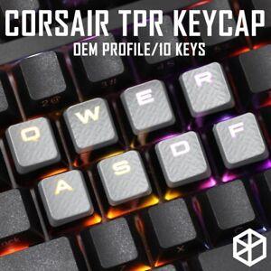Gaming Keycap Set Cherry MX Compatible OEM Profile shine-through 10 keycaps