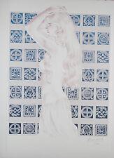 Sérigraphie Craenhals - Chevalier Ardent - Gwendoline  45 X 60 cm
