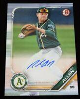 Authentic Autographed Baseball Card Nick Allen Oakland Athletics