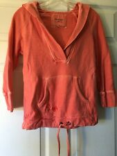 Women's American Eagle V-Neck Pink/Coral Pullover Hoodie Size Small Petite S/P