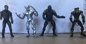 Marvel's X-men Lot of 4 Wolverine, Silver Wolverine, Beast, and Toad. Pre-owned.