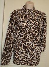 Zenergy Chicos 1 Full Zip Leopard Cardigan Sweater NEEMA Jacket M 8 Medium EUC